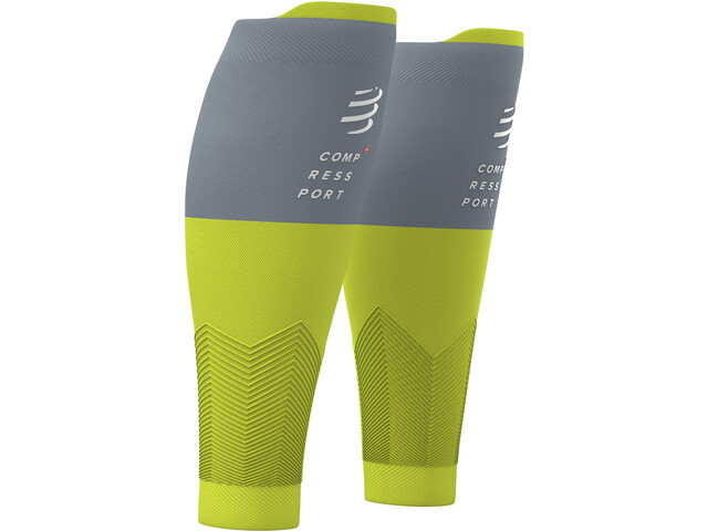 Compressport R2V2 Opaski na łydkę, lime/grey